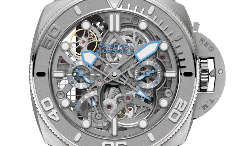 New Panerai Submersible Ecopangaea Tourbillon GMT Replica Watches
